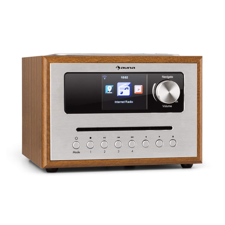 auna Silver Star CD Cube Radio • Radio con WiFi y Reproductor de CD • Microcadena
