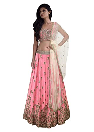c627ae71482c78 Fabron Baby Pink Elegance Lehenga Choli With Beige Net Dupatta: Amazon.in:  Clothing & Accessories