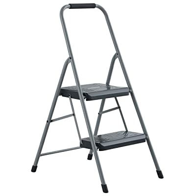 Black & Decker BXL4360-02 Two Step 200 lb Capacity Steel Stool, Gray: Home Improvement