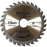 AERZETIX - Disque scie à bois 115/22,2mm pour meuleuse tronçonneuse T30 30 dents.