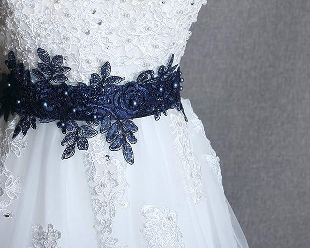 Amazon Com Navy Sash Belt Bridal Blue Sash Wedding Dress