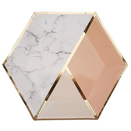 Neviti Peach Color Block Marble 9\u0026quot; Paper Plates  sc 1 st  Amazon.com & Amazon.com: Neviti Peach Color Block Marble 9\