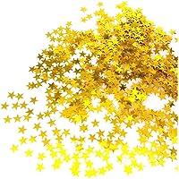 JZK 5000 pz 1cm scintillante plastica coriandoli stelle oro giallo stelline decorazione tavolo festa per matrimonio compleanno Natale battesimo addio al nubilato