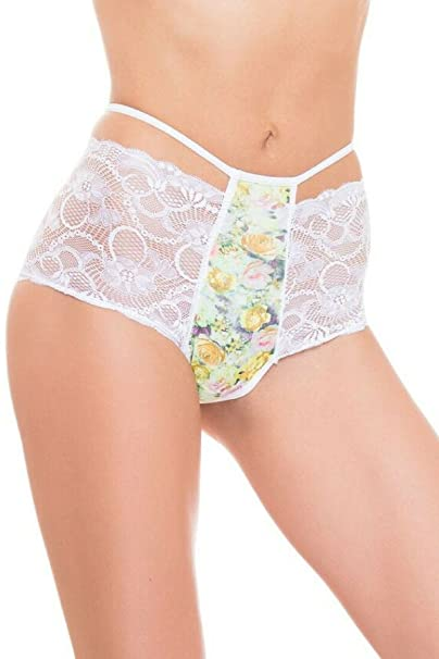 2898b9f7ea75 Image Unavailable. Image not available for. Color: GB Intimates High Waist Brazilian  Underwear Cheeky Cut Panties for Women ...