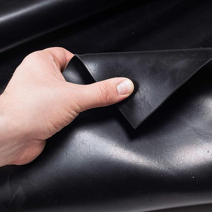 ANRO Gummimatte Schutzmatte Meterware Bodenmatte Glatt beidseitig Gummil/äufer 100cm Breit 1mm stark Schwarz 50 x 100cm