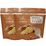Naturevibe Botanicals Organic Ginger Root Powder-2 lbs (2 pack of 1lbs each), Zingiber officinale Roscoe | Non-GMO verified,