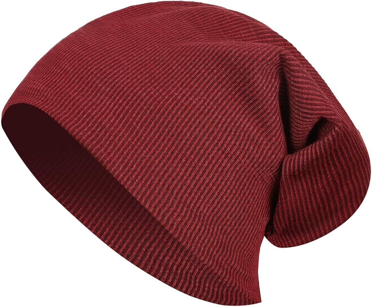JOYEBUY 4 Pack Women Men Stylish Thin Hip-hop Soft Stretch Knit Slouchy Beanie Hat Skull Cap