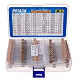 BOJACK 1000 Pcs 25 Values Resistor Kit 1 Ohm-1M Ohm with 5% 1/4W Carbon Film Resistors Assortment