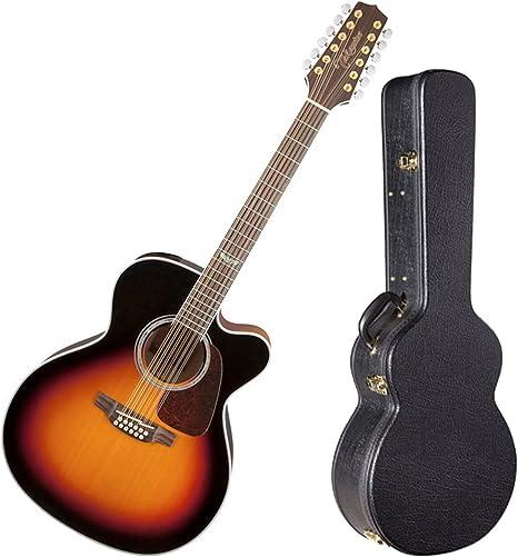 TAKAMINE gj72ce-12bsb brillante marrón Sunburst Jumbo acústica de ...