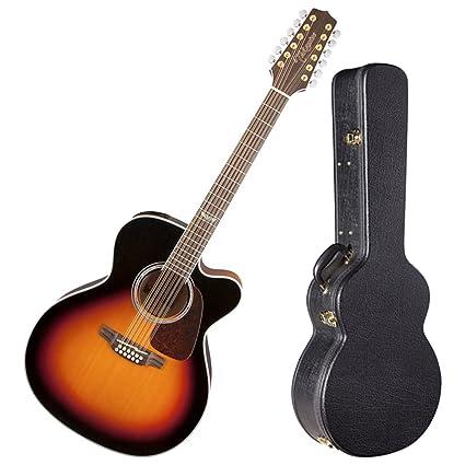 TAKAMINE gj72ce-12bsb brillante marrón Sunburst Jumbo acústica de 12 cuerdas para guitarra eléctrica w