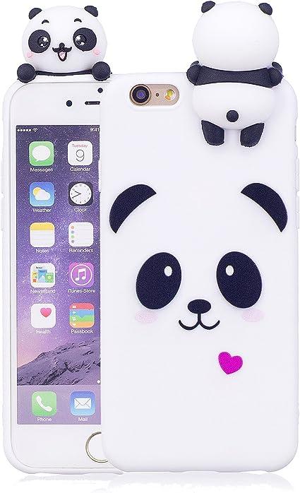 Keteen Cover iPhone 6, iPhone 6s Custodia, Elegante 3D Carino Animale TPU Silicone Bumper Flessibile Morbido Anti Graffio Protettiva Case Slim Magro ...