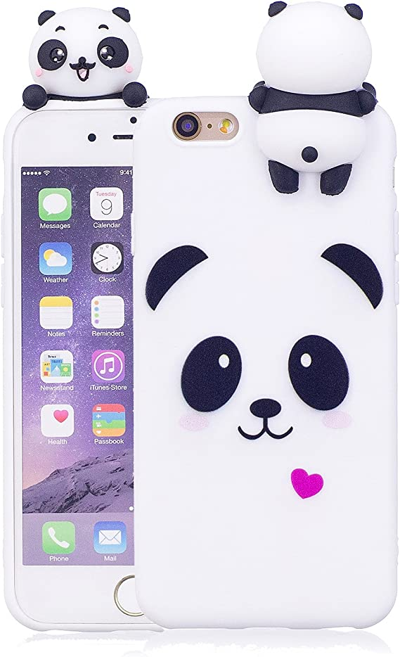 For iphone 6s case silicone 3D cute App