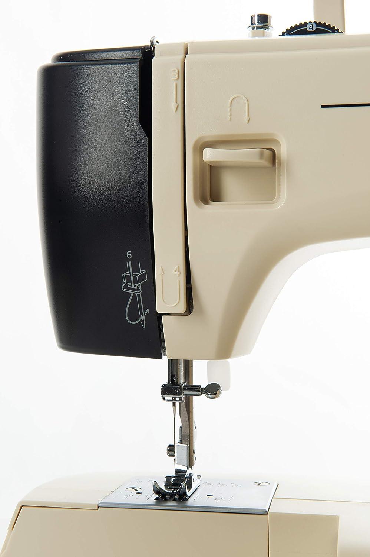 Elettrica - Macchina da Cucire con 17 Punti di Cucitura Robusta Necchi New Mirella Professionale Anniversario Braccio Libero Cucitrice Automatica Completa Facile per da Usare Cucito Creativo