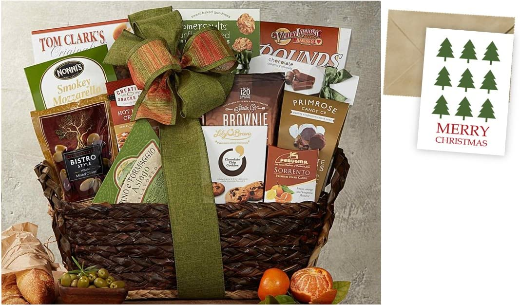 Gourmet Choice Gift Basket for Christmas and personalized card mailed seperately CD3241191