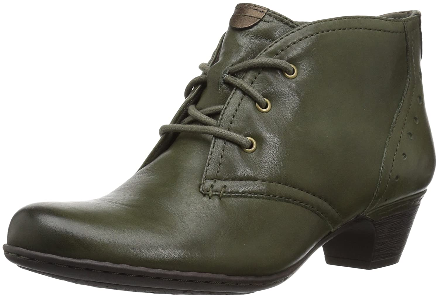 Evergreen Leather Cobb Hill by Rockport Womens Cobb Hill Aria Ankle Bootie