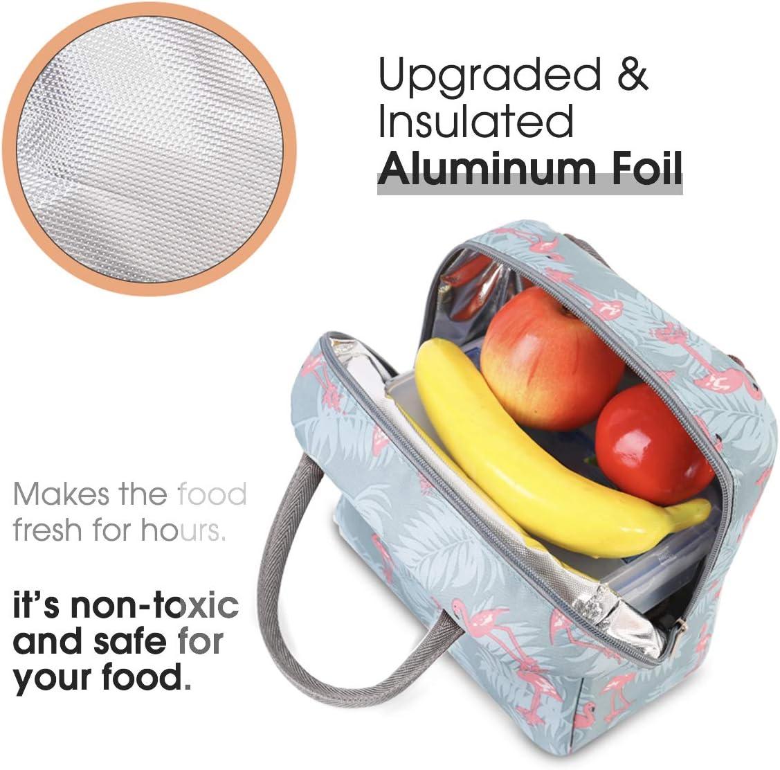 Estudiantes y Ni/ños Adultos HOMESPON Bolsa Isot/érmica de Almuerzo Lunch Bag Bolsa T/érmica Porta Alimentos Tela Impermeable Plegable Bolso de Picnic para Mujeres