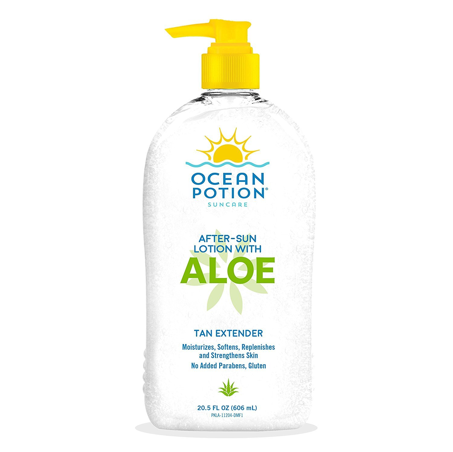 Ocean Potion After-Sun Aloe Lotion 20.5 Ounce Pump Tan Extender (606ml) (2 Pack) SHOMALVI3701