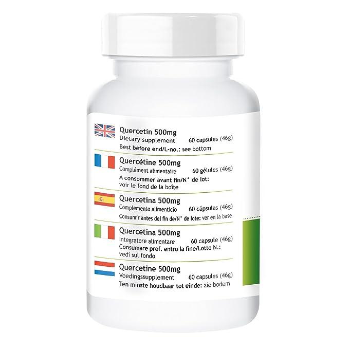 QUERCETINA 500mg - herba direkt - 60 cápsulas - producto ...