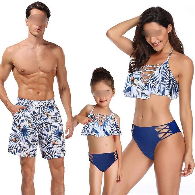 Amazon.com: Trajes de baño de bikini para papá, mamá, niños ...