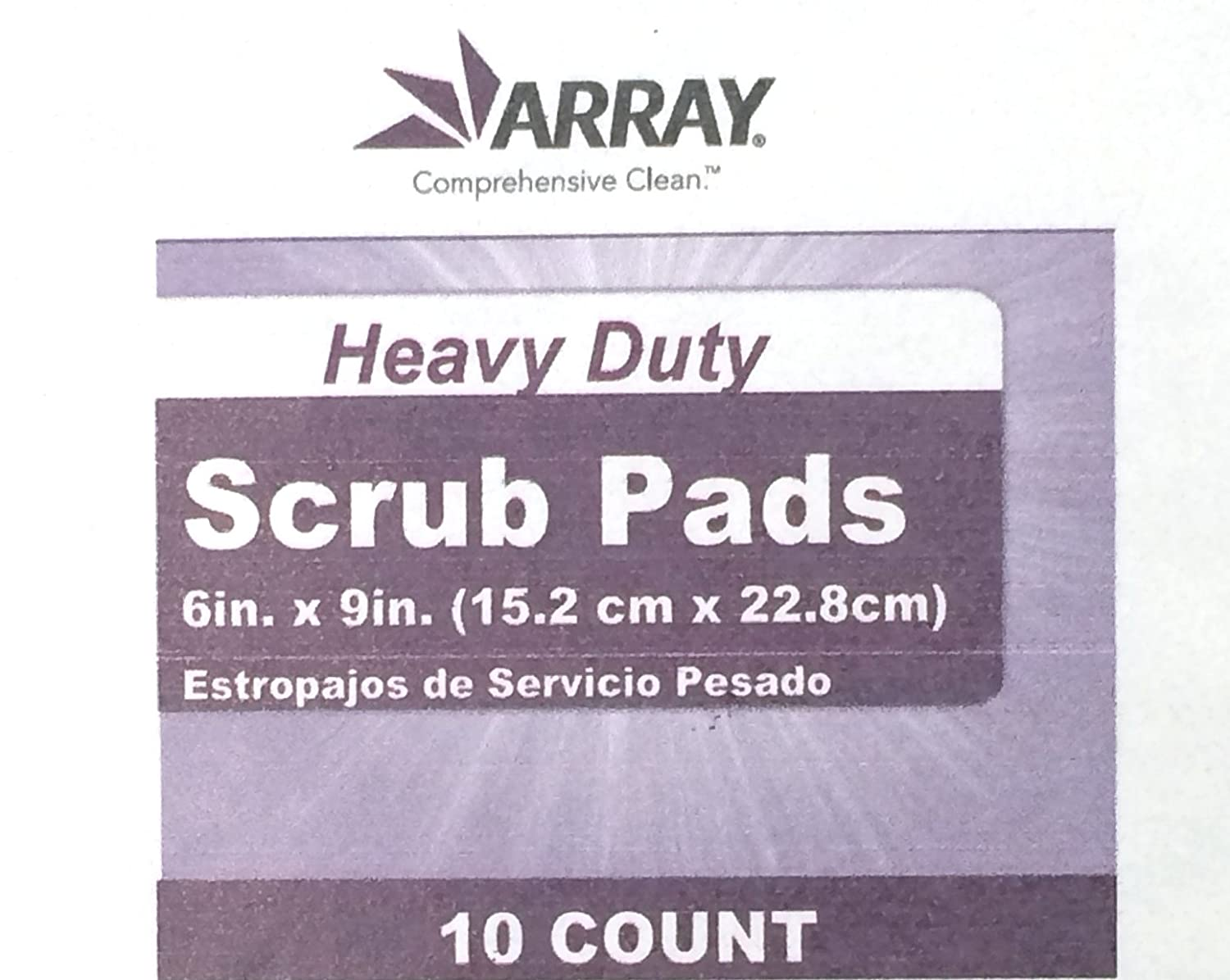 Amazon.com: Array Heavy Duty Scrub Pads, Dark Green, 6