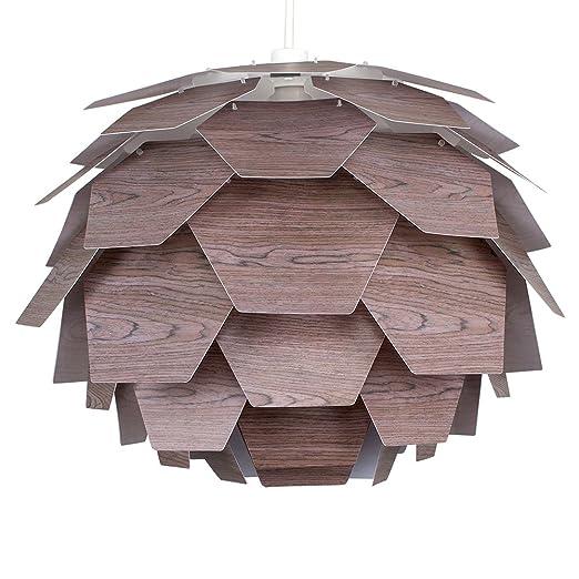 Modern black walnut effect designer style artichoke ceiling pendant modern black walnut effect designer style artichoke ceiling pendant light shade aloadofball Image collections