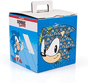 JUST FUNKY Sonic The Hedgehog Classic 90s Arcade Collector Looksee Mystery Surprise Box | 5 Themed Toy Collectibles | Lanyard, Pin, Wall Art & More