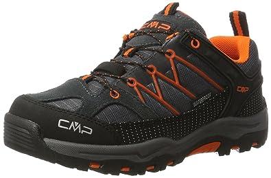 CMP Unisex-Kinder Rigel Trekking-& Wanderhalbschuhe, Blau (Zaffiro-Grey-Orange Fluo), 28 EU