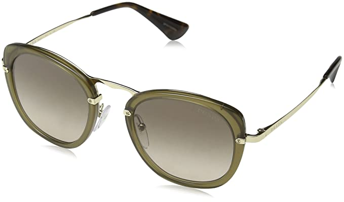 Prada Damen Sonnenbrille 0PR58US 31D3D0, Braun (Brown/Brown Grey), 49