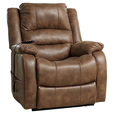 Ashley Furniture Signature Design   Yandel Power Lift Recliner   Contemporary  Reclining Sofa   Faux Leather