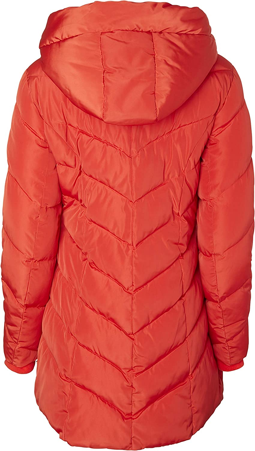 Sportoli Womens Packable Winter Chevron Quilted Fleece Lined Puffer Coat with Hood