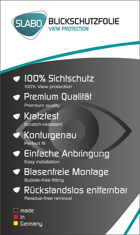 Protector de Pantalla reducido, a Causa de la Pantalla Curvada Negro Slabo Protector de Pantalla Privacy BQ Aquaris V protecci/ón contra Las miradas View Protection Privacy Made IN Germany