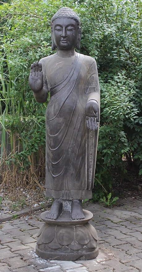 Asia Lifestyle Templo Buda Estatua (180 cm) de piedra natural – Asia, Jardín, Escultura restaurada y sellada: Amazon.es: Jardín