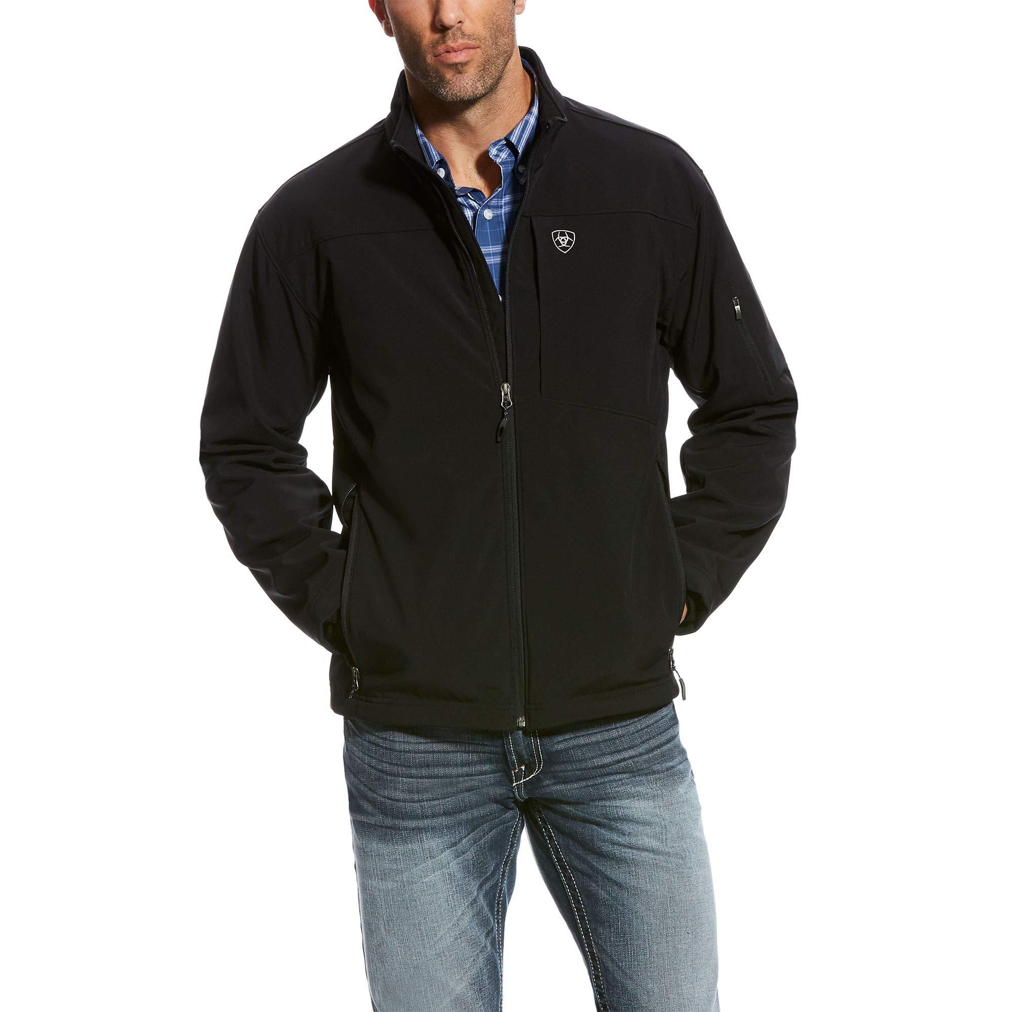 ARIAT Men's Vernon 2.0 Softshell Jacket, Black, XL by ARIAT