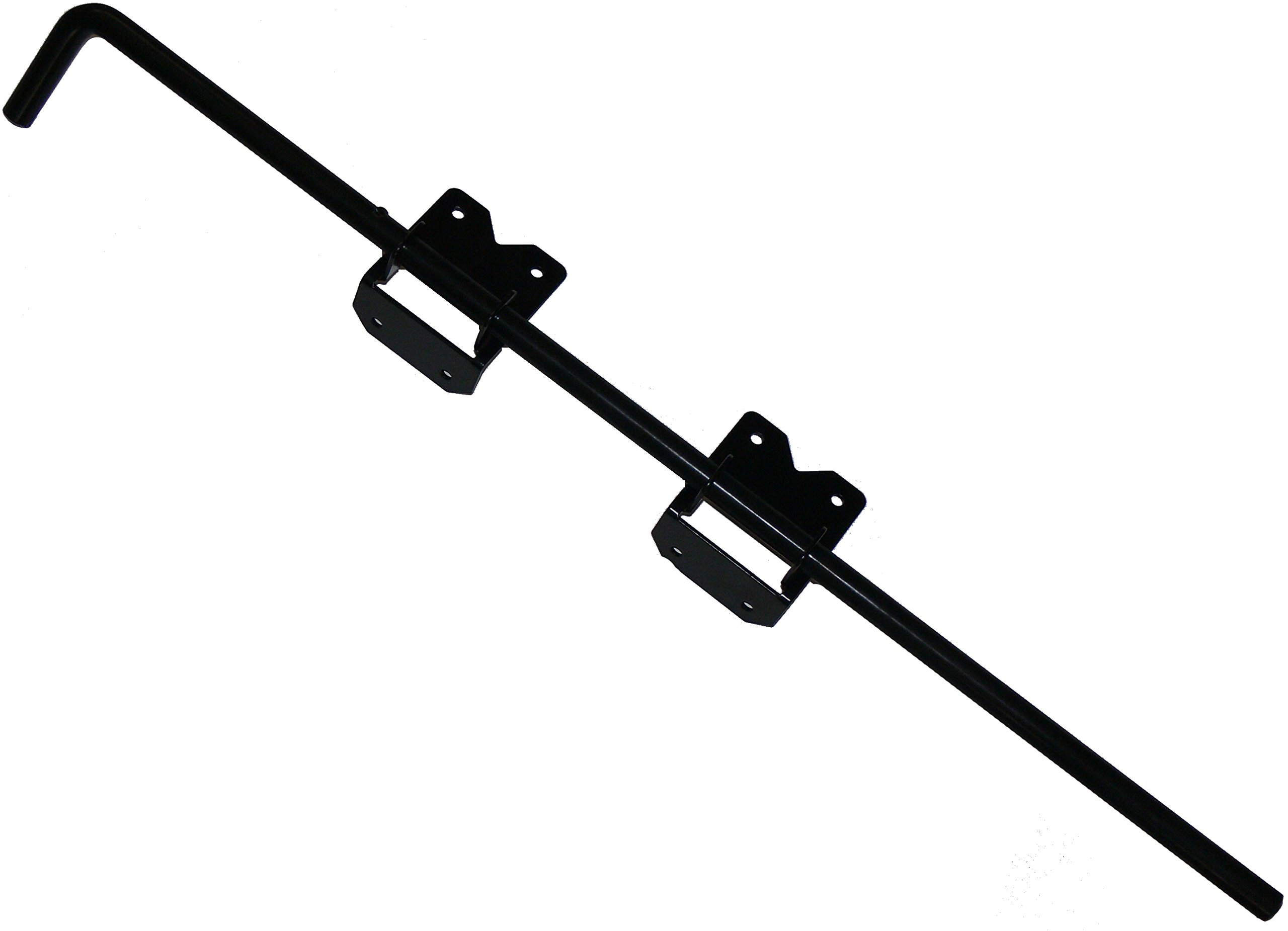 36'' Vinyl Fence Gate Drop Rod (Black) - AKA Gate Drop Pin, Cane Bolt - Drop Rods for Securing One of The Double Gates to The Ground so The Other can be Latched to it - Powder Coated Gate Hardware