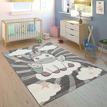 Paco Home Tapis Enfant Chambre Enfant Filles Moderne Licorne sur ...