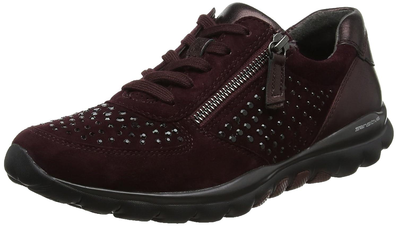 Gabor Shoes Rollingsoft, Zapatos de Cordones Derby para Mujer 37.5 EU Rojo (New Merlotstrass)