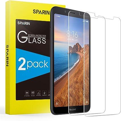2-Pack] SPARIN Cristal Templado Xiaomi Redmi 7A, Protector ...