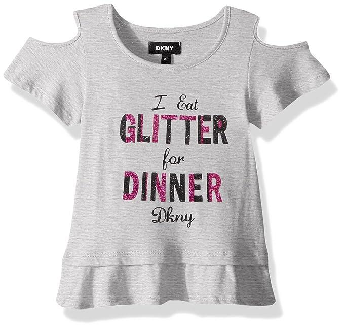 29b5e98c38a5a Amazon.com  DKNY Girls  Short Sleeve T-Shirt  Clothing