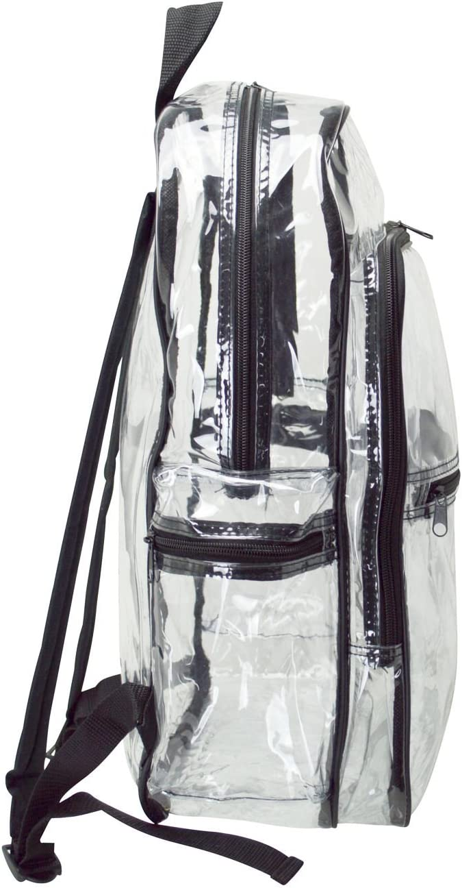 """Clear Backpack Transparent Backpacks Clear Camping Hiking Daypacks 17.5/"""""""