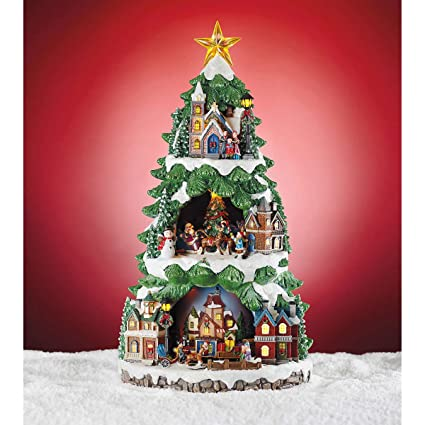20 inch animated tabletop christmas tree holiday decoration features led lights different christmas carol - Animated Christmas Trees