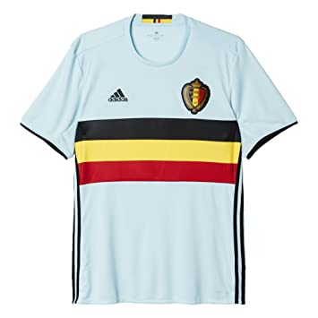 bece70065 adidas Mens Climacool Belgium Home Replica Soccer Jersey Blue Yellow M   Amazon.co.uk  Sports   Outdoors