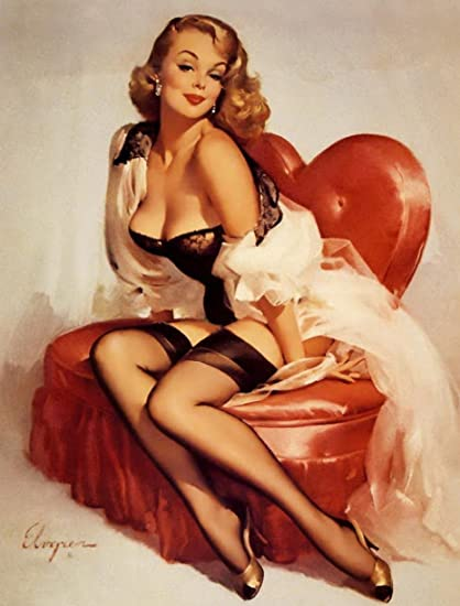 f26ad69a65a Cransley Hill Gil Elvgren Pin Up Vintage Metal Sign