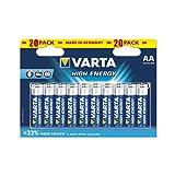 Varta High Energy Batterie AA Mignon Alkaline Batterien LR6 - 20er Pack