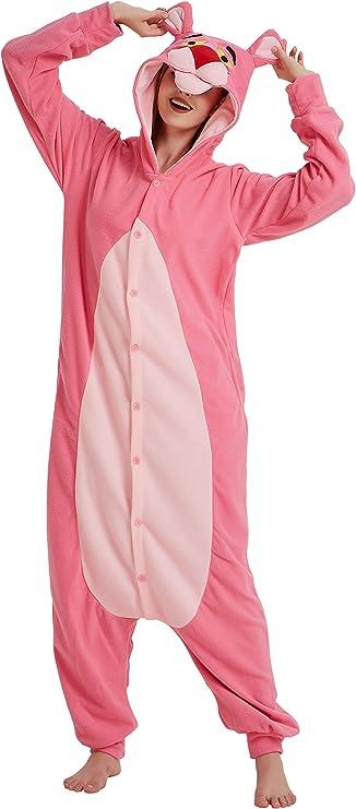 FunnyCos Pijama de animal para adulto, unisex, disfraz de Halloween para mujeres, hombres y adolescentes