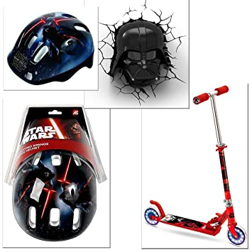 PATINETE PLEGABLE CON 2 RUEDAS SILENCIOSAS STAR WARS DARTH ...