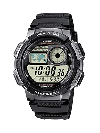 CASIO AE-1000W-1B - Reloj de pulsera, para hombre, color negro