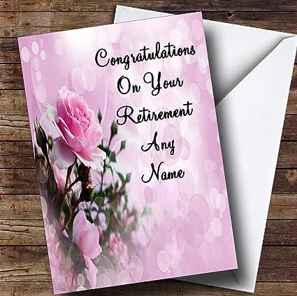 Amazon pale pretty pink rose personalized retirement greetings pale pretty pink rose personalized retirement greetings card m4hsunfo