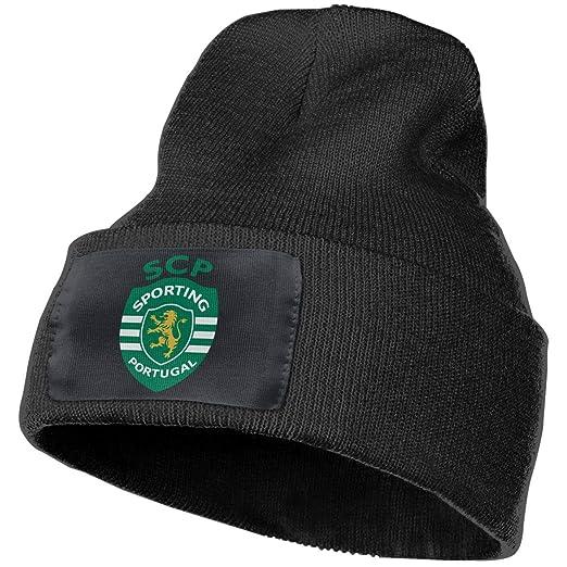 d05fe0a32254c EARTGO Warm Winter Knit Hats Unisex Skull Cap - Sporting Lisbon Black