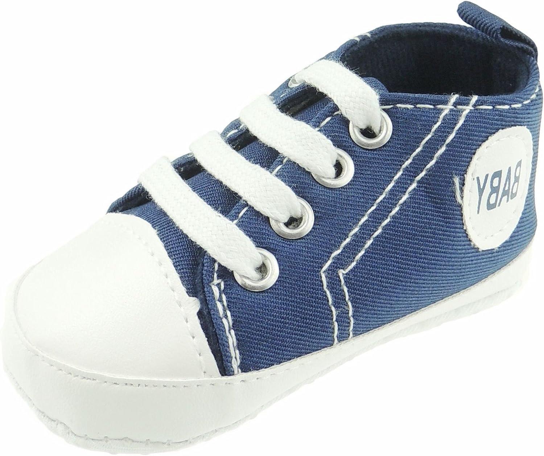 Zapatillas de encaje para beb/é color azul marino azul azul marino Talla:0-3 Meses ni/ños y ni/ñas