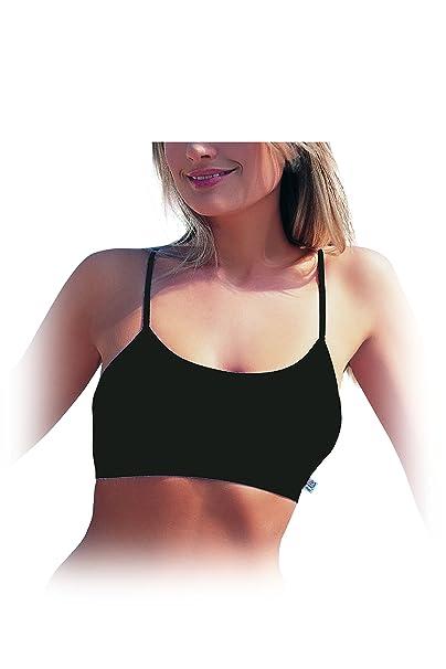 save off f5b5f 3a432 mh-underwear Damen- Jugendliche Mädchen Bustier- Spaghettiträger-  Baumwolle-MODAL